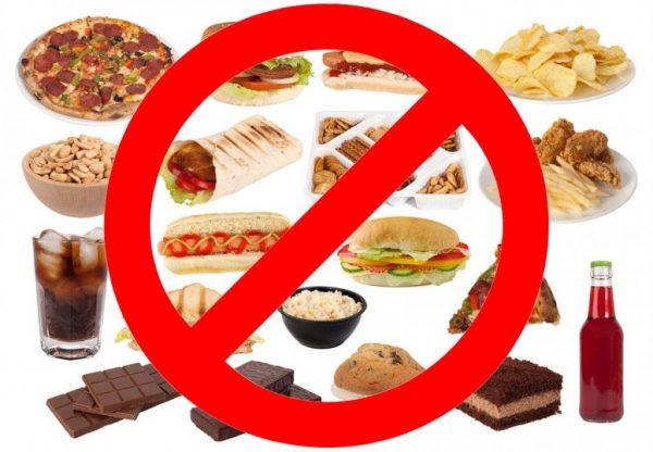 Запрещенные продукты при коксартрозе