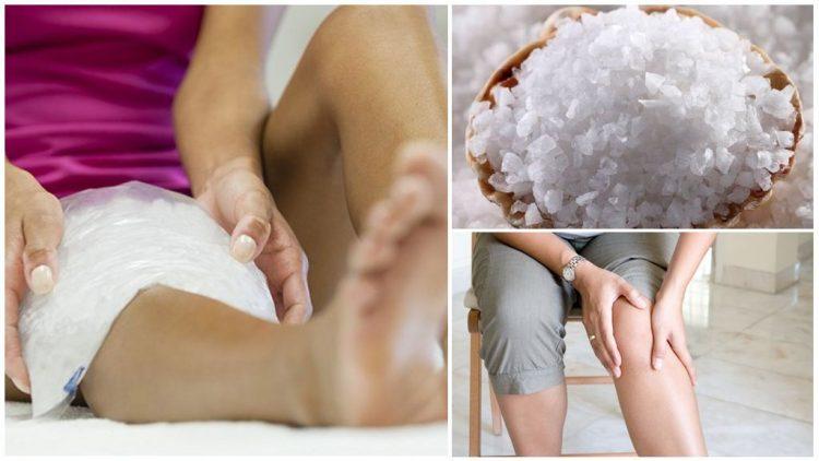 Эффективным в лечении является компресс из морской соли