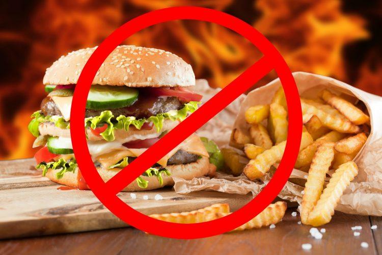 Питание фастфудом при артрите категорически запрещено