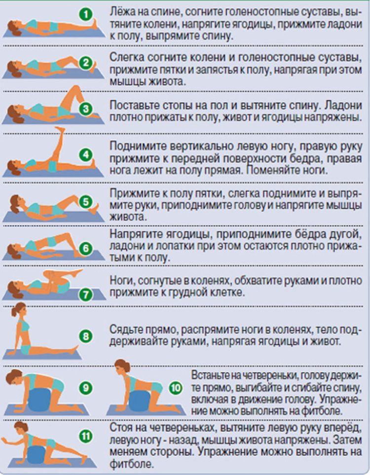 Упражнения и ЛФК при остеохондрозе