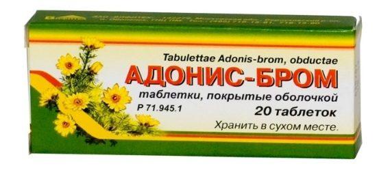 Адонис бром в таблетках