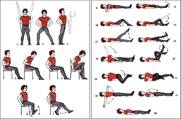 Упражнения могут быть статические или динамические