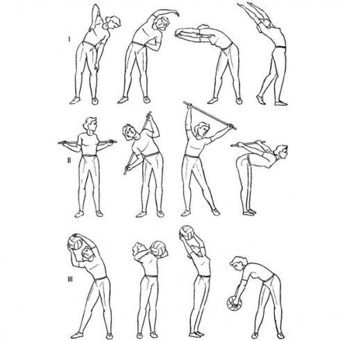 Выполнение упражнений в положении стоя