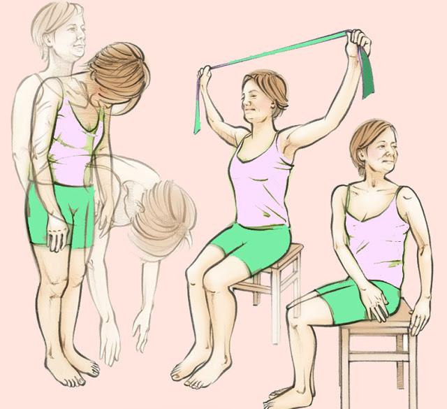 В период обострения можно выполнять облегченный комплекс упражнений