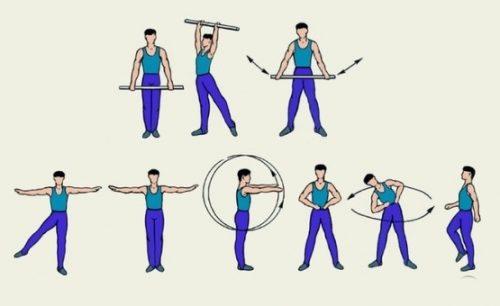 Комплекс упражнений в положении стоя