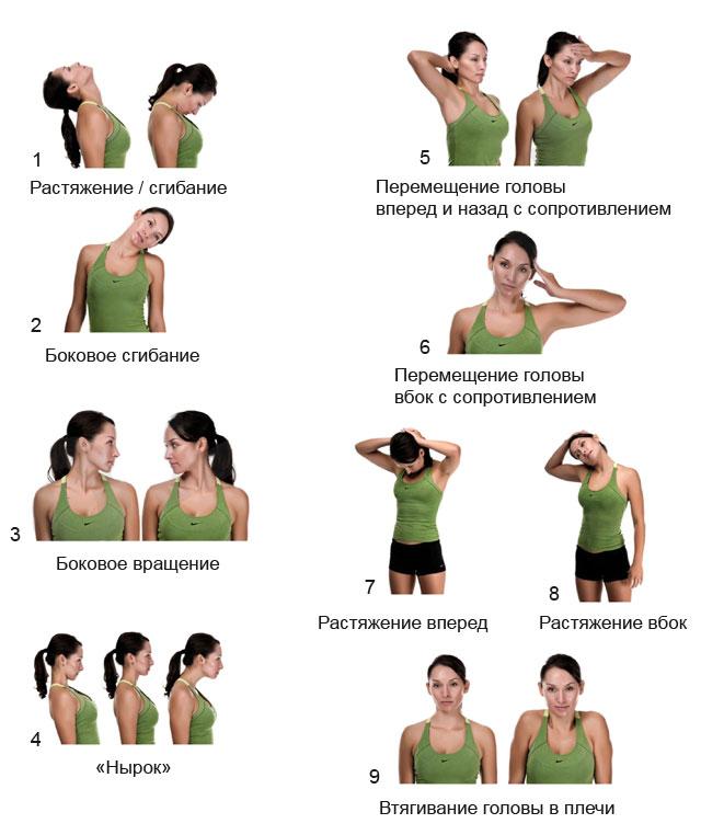 Варианты упражнений при спондилоартрозе