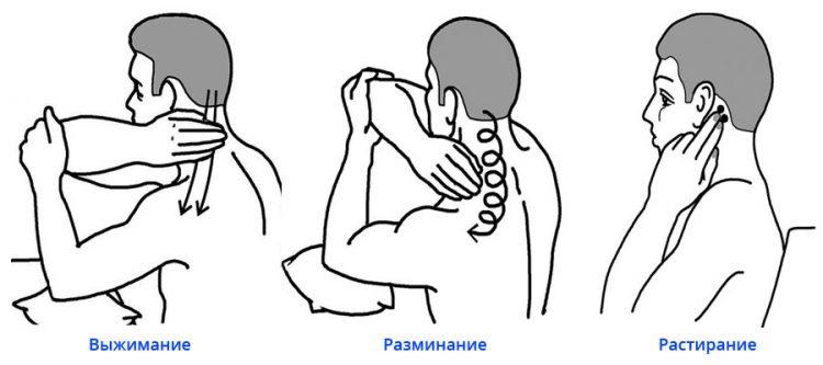 Техника проведения самомассажа шеи