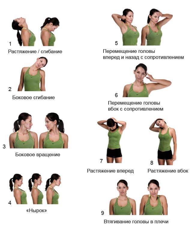 Варианты упражнений для шеи