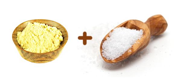 Горчица и соль используется для компрессов