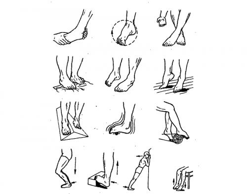 Варианты упражнений для голеностопного сустава