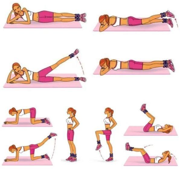 Примеры упражнений для ног